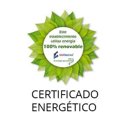 Certificado Energía 100% Renovable