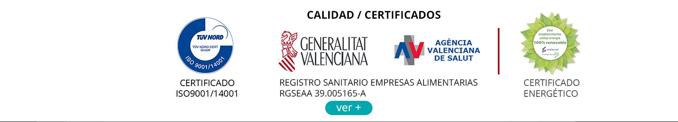 Certificados Calidad Vicedo Marti