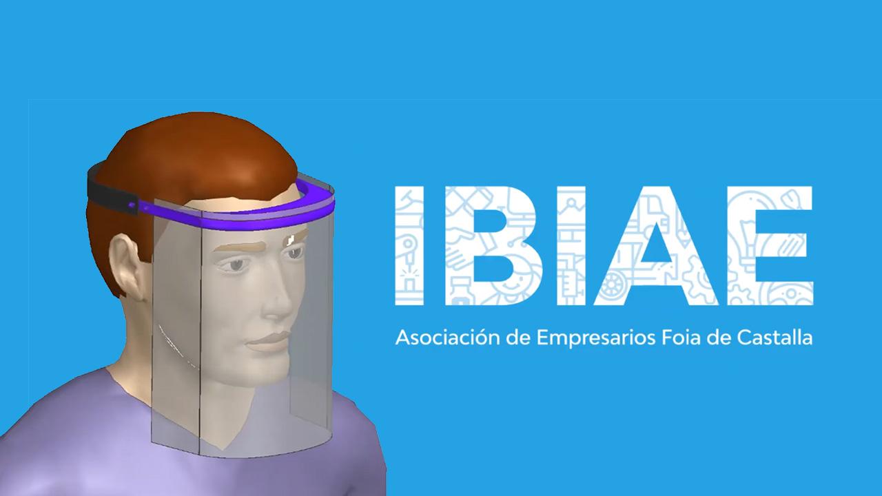 Empresas de IBIAE fabrican y donarán más de 10.000 pantallas protectoras para la cara a hospitales de la provincia de Alicante