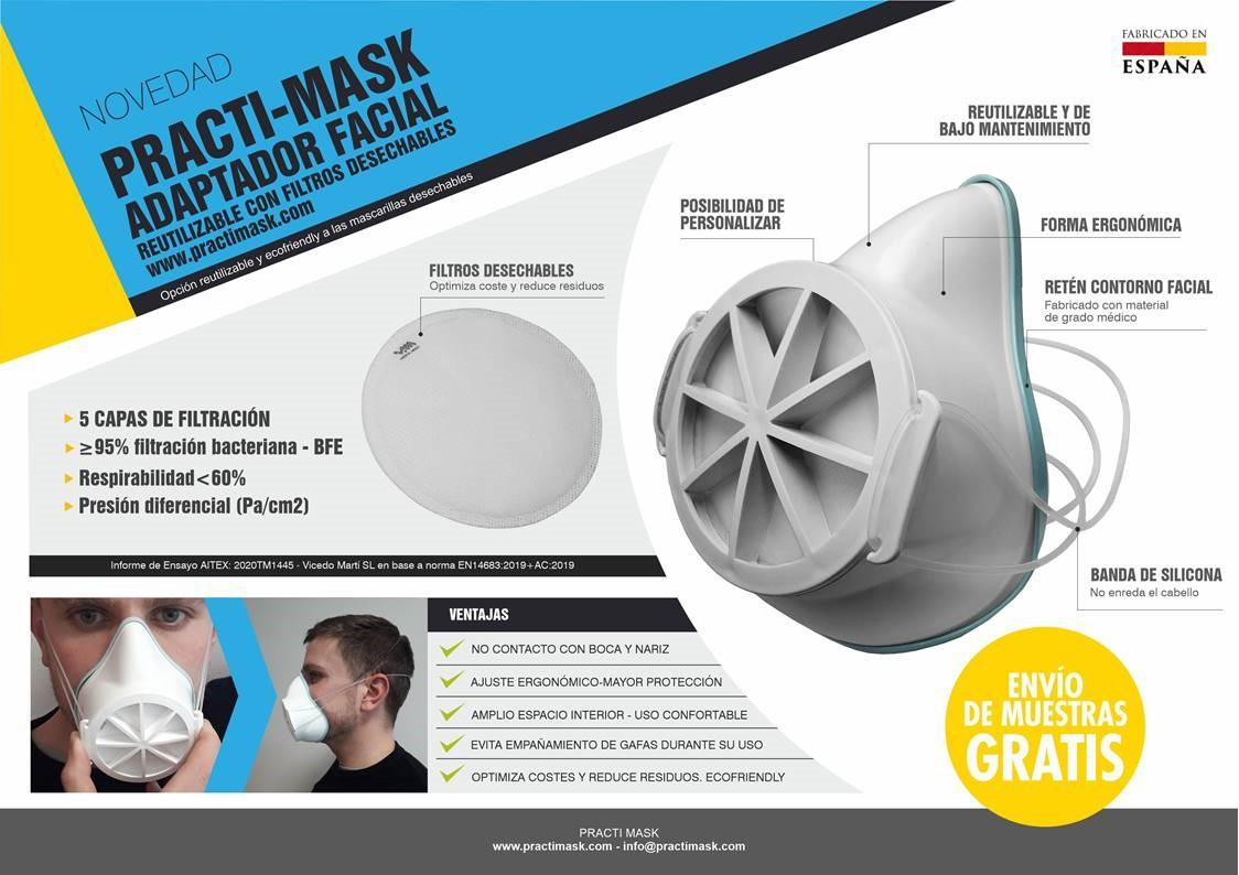 """Vicedo Martí presenta un nuevo producto """"PRACTI-MASK"""""""